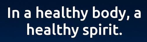 Zdravo tijelo dovodi do dobrog mentalnog zdravlja. A to je i pravi izvor sreće. AIESEC u Bosni i Hercegovini.